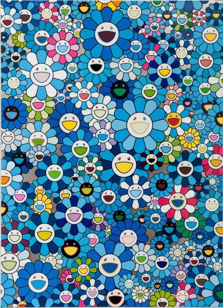 Takashi Murakami, Blue Flower (2013) Japanische kunst
