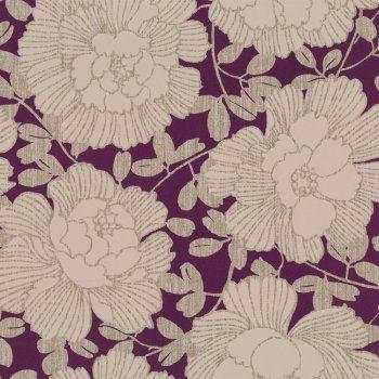 Buy Graham and Brown Manderley Wallpaper Amethyst / Gold / Cream