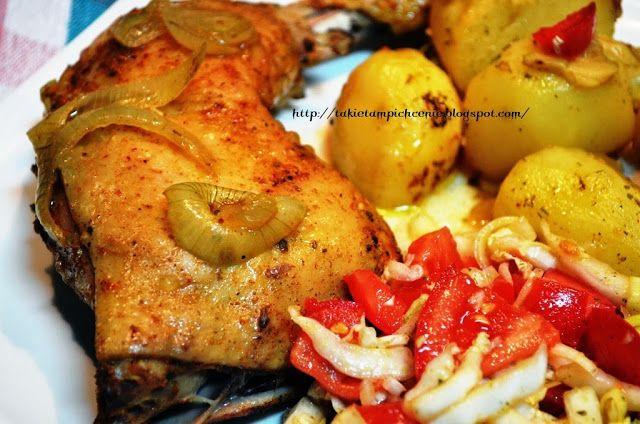 Smak, zapach, kolor...: Udka w ziołach z ziemniakami z rękawa
