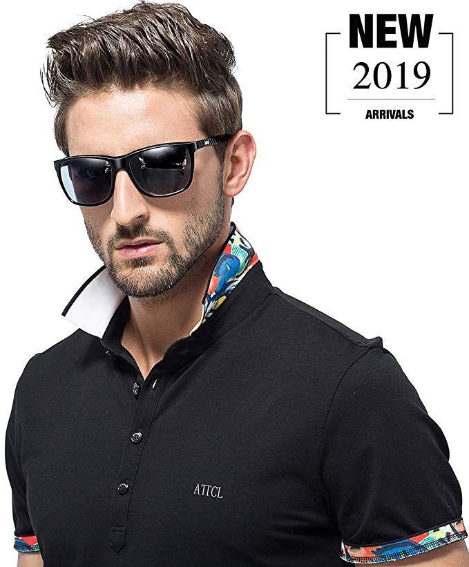 ATTCL Men/'s Driving Polarized Sunglasses Al-Mg Metal Black Not Mirrored