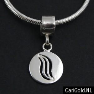 #Marble #Marbles - #Marillion - Jewellery - Handmade Sterling silver charm/bead (14mm)- PENMAR14L- to wear on a #bracelet of #pandora - Designed by Karin Hengeveld - to order check - www.CariGold.nl