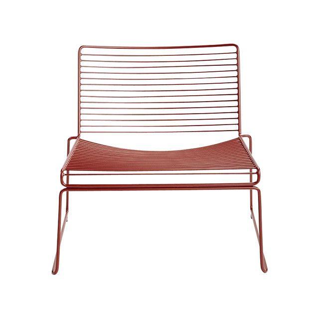 HAY - Hee Lounge Stuhl - rust rot/lackiert/72x67x67cm/Sitzhöhe: 37cm/für Innen- und Außerbereich geeignet