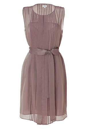 Mauve pleated dress