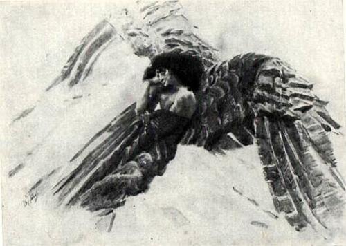 - Mikhail Vrubel .The Flying Demon 1890
