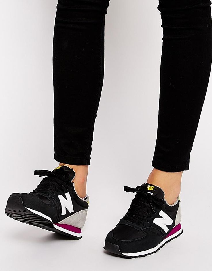 uk availability e8529 68676 ... new style new balance new balance 420 suede mix black yellow trainers  at asos 24f18 ad024