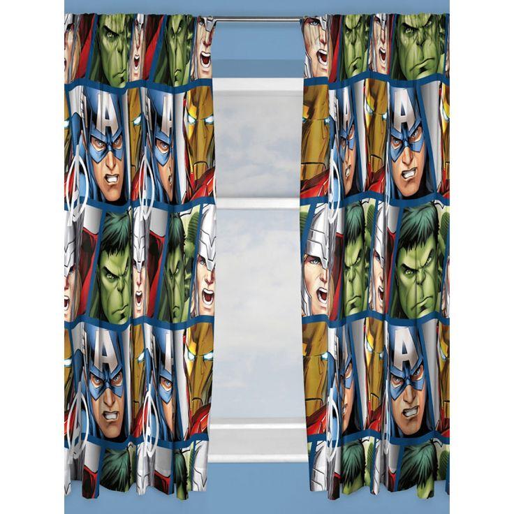 Marvel Avengers Shield Curtains | Bedroom