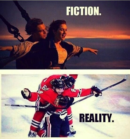 Fiction vs Reality - Chicago Blackhawks  #chicago #sharkcity #entertainment