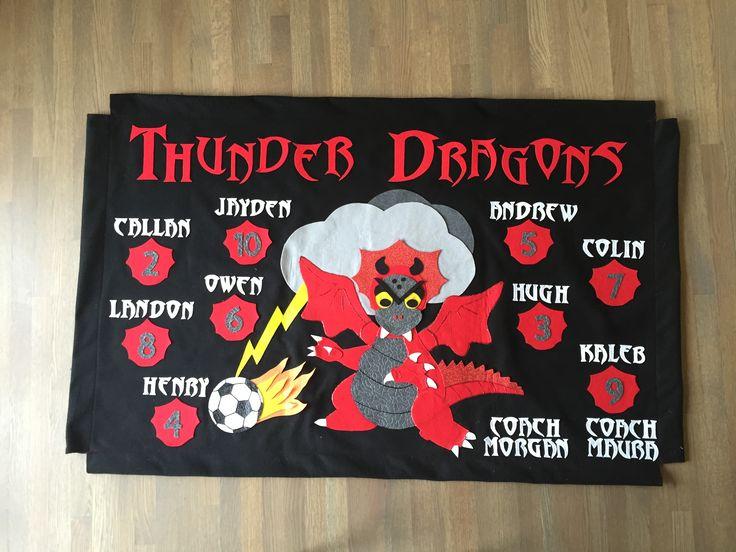 Owen's homemade felt soccer banner!!
