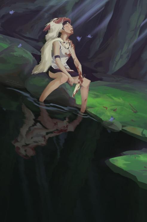 Sen | Princess Mononoke | Miyazaki | Studio Ghibli