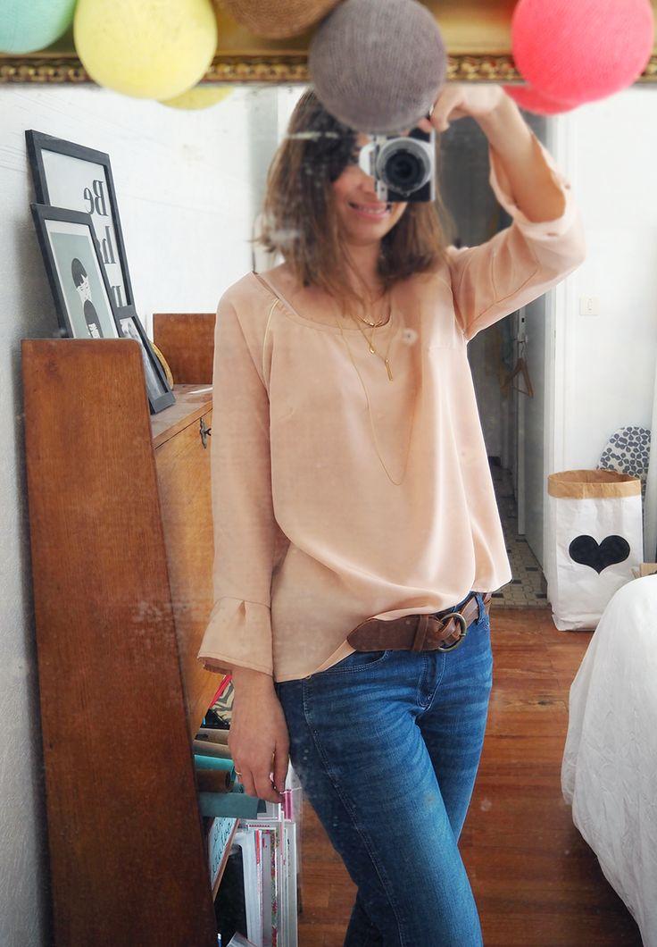 """Ma blouse en soie patron Stockholm Atelier Scammit #homemade #couture #DIY - Blog """"pour mes jolis mômes, mais pas que..."""""""