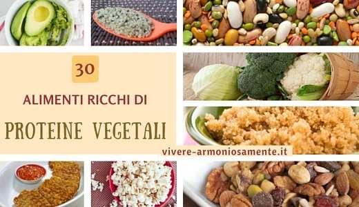 Gli alimenti ricchi di proteine sono davvero tanti. Tra le fonti vegetali ci sono legumi, semi, frutta secca, alghe, verdura, pop corn, cacao e avocado...