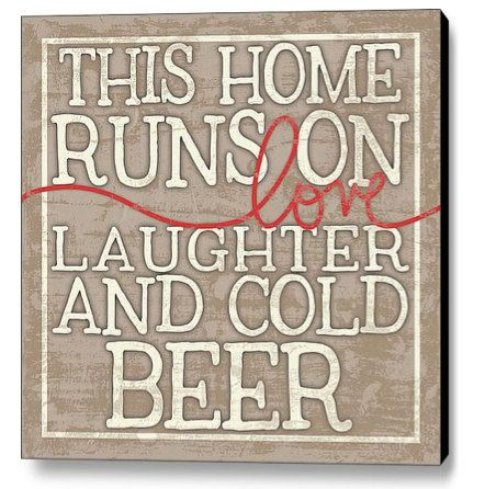 Love Laughter and Cold Beer  Wood Sign by MistyMichelleDesign, $25.00