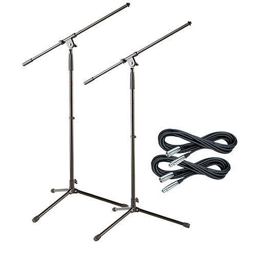 Musician's Gear Tripod Mic Stand with 20 Foot Mic Cable (2 Pack)-thumbnail