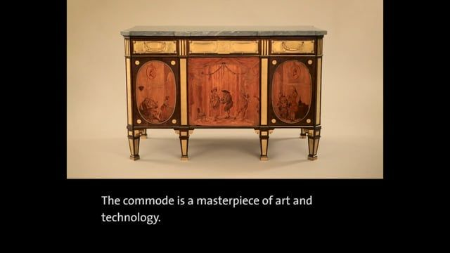 The film shows the craftsmanship and technology of a Neoclassical commode by the German cabinetmaker David Roentgen.  Visit the Europe 1600-1815 Galleries where over 1100 spectacular objects from the V&A's collections of 17th- and 18th-century European art and design are displayed in a suite of seven galleries. vam.ac.uk/europegalleries