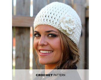 CROCHET PATTERN – Woman's Boho Flower Headband Crochet Pattern- Crocheted Ear Warmer- Instant Download- PDF – Croché