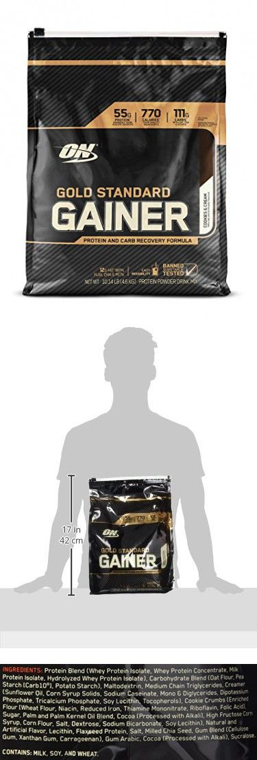 Optimum Nutrition Gold Standard Gainer, Cookies and Cream, 10 Pound
