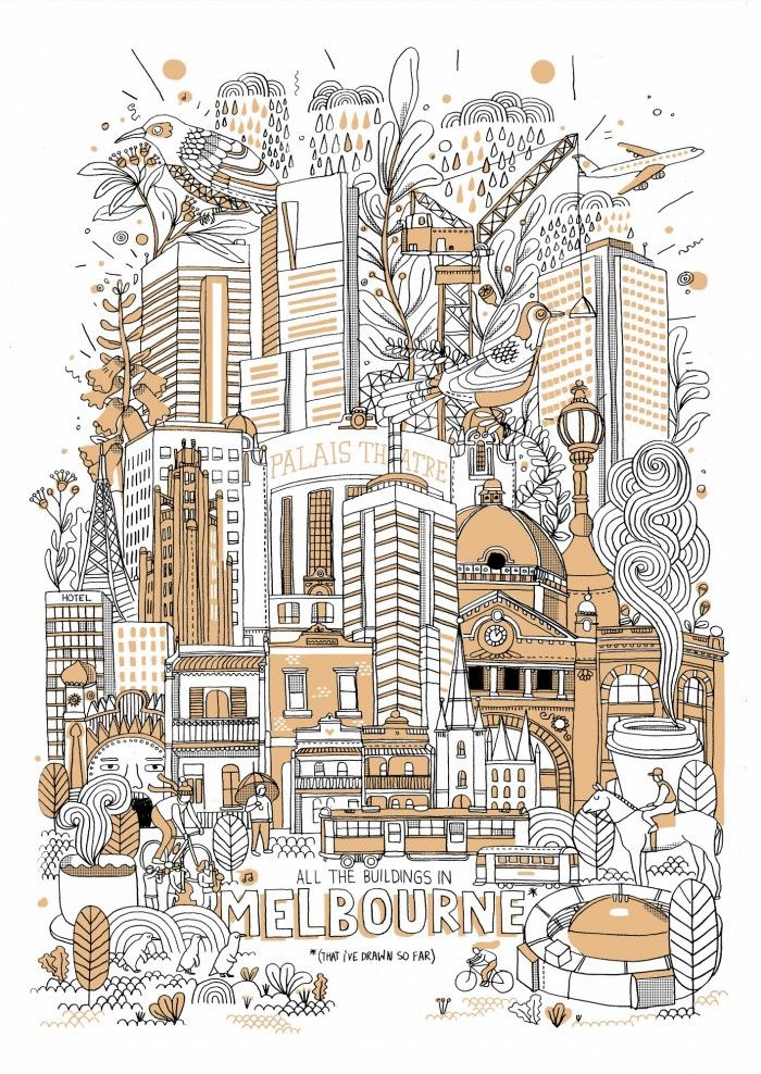 All The Buildings In Melbourne || James Gulliver Hancock