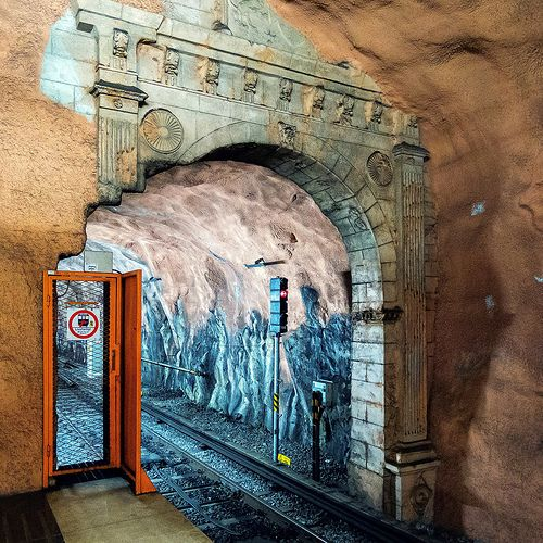 In Praise of the Stockholm Subways Breathtaking Art - Kaid Benfield - The Atlantic Cities I did love Stockholm (and would visit again!), despite their scary long escalators on the metro system... :)