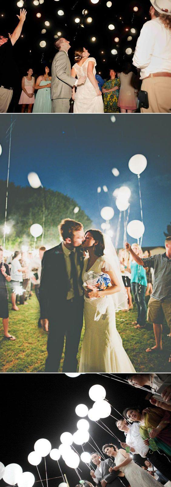 ballons leds mariage