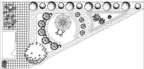 Triangular Garden Plan   Garden design plans, Garden ideas ... on Triangle Shaped Backyard Design id=32050