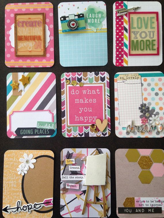 Gorgeous handmade project life card set with by CodisCustomCards