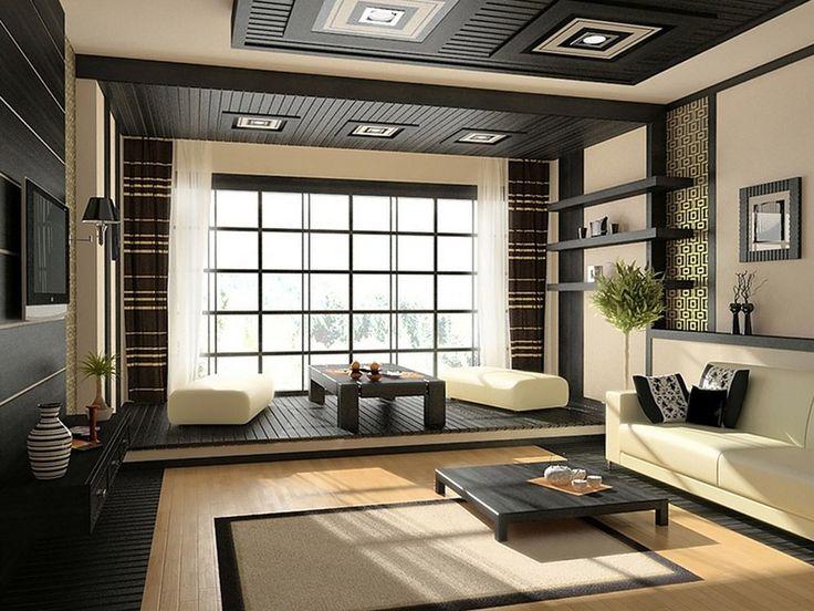 Японский стиль в интерьере.  Японский – минимум перегородок и мебели, максимум – раздвижные ширмы. Приветствуется плетеная мебель, панорамные окна, живые растения. Можно использовать в любой комнате.