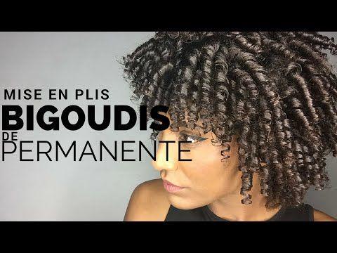MISE EN PLIS AVEC BIGOUDIS DE PERMANENTE SUR CHEVEUX AFRO CRÉPUS NATURELS - YouTube