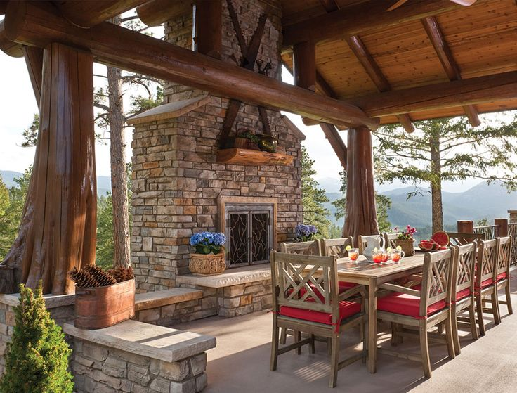 Colorado Handcrafted Post And Beam Home Outdoor Living
