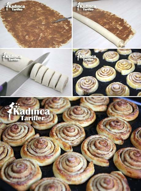 Tarçınlı Rulo Çörek Tarifi - Kanelbullar Kadincatarifler.com - En Nefis Yemek Tarifleri Sitesi - Oktay Usta