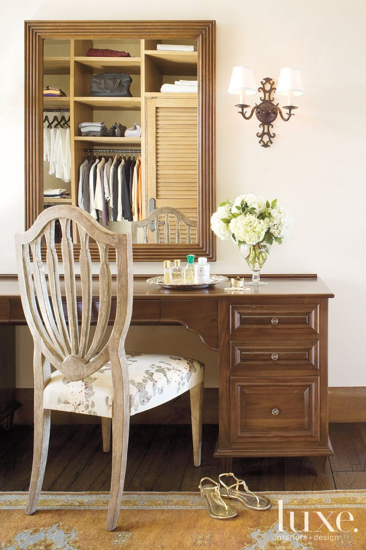 Country Neutral Dressing Room with Custom DressingTable and chair