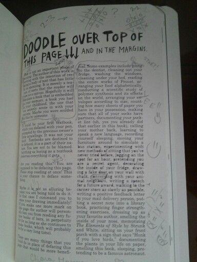 Scarabocchia ai bordi della pagina e sui margini!!! :D