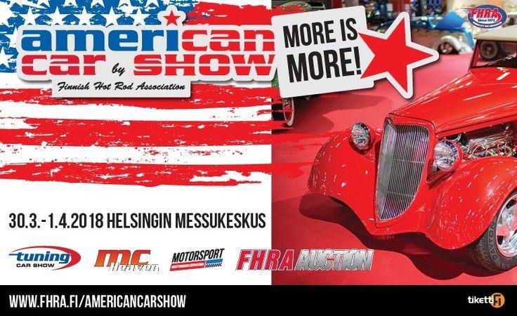 American Car Show, Tuning Car Show, MC Heaven & Motorsport 2018 - liput - Helsingin Messukeskus, Helsinki - 30.3. - 1.4.2018 - Tiketti