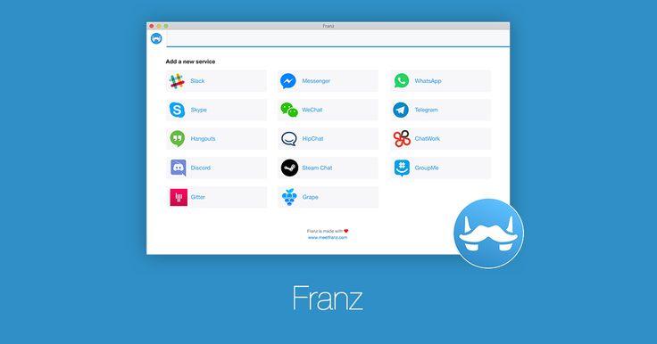 Franz – a free messaging app for Slack, Facebook Messenger, WhatsApp, Telegram and more