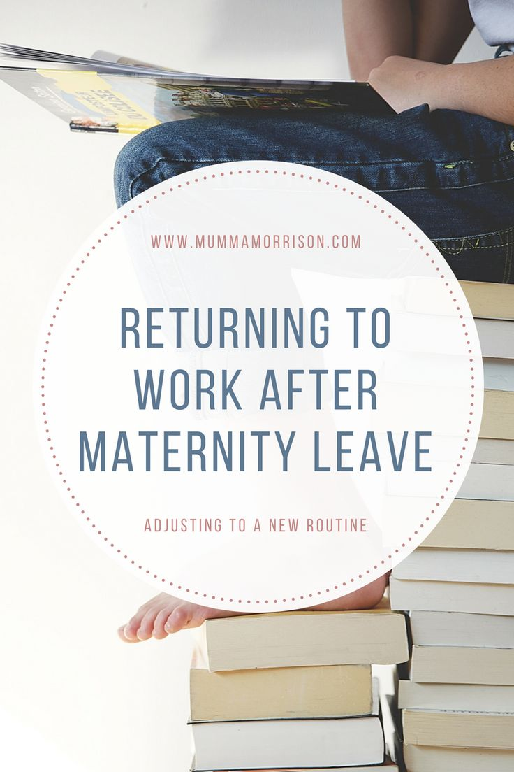 Returning To Work After Maternity Leave {mumma Morrison}
