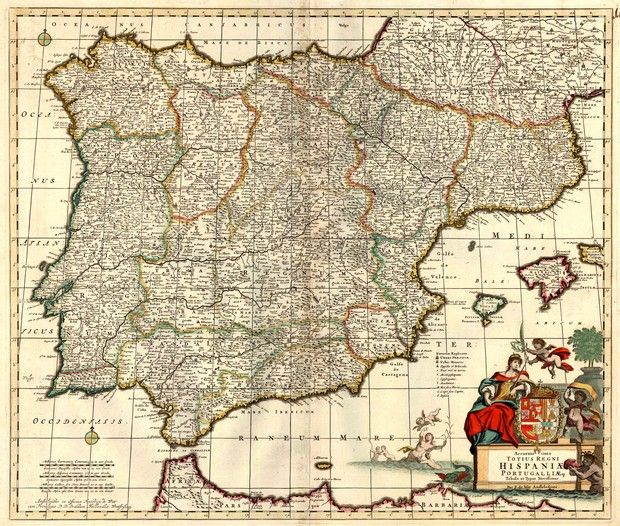 24 best maps images on pinterest antique maps old maps and maps antique map of spain and portugal by f sciox Gallery