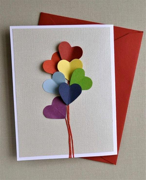 kreativ gestaltete Karte zum Valentinstag
