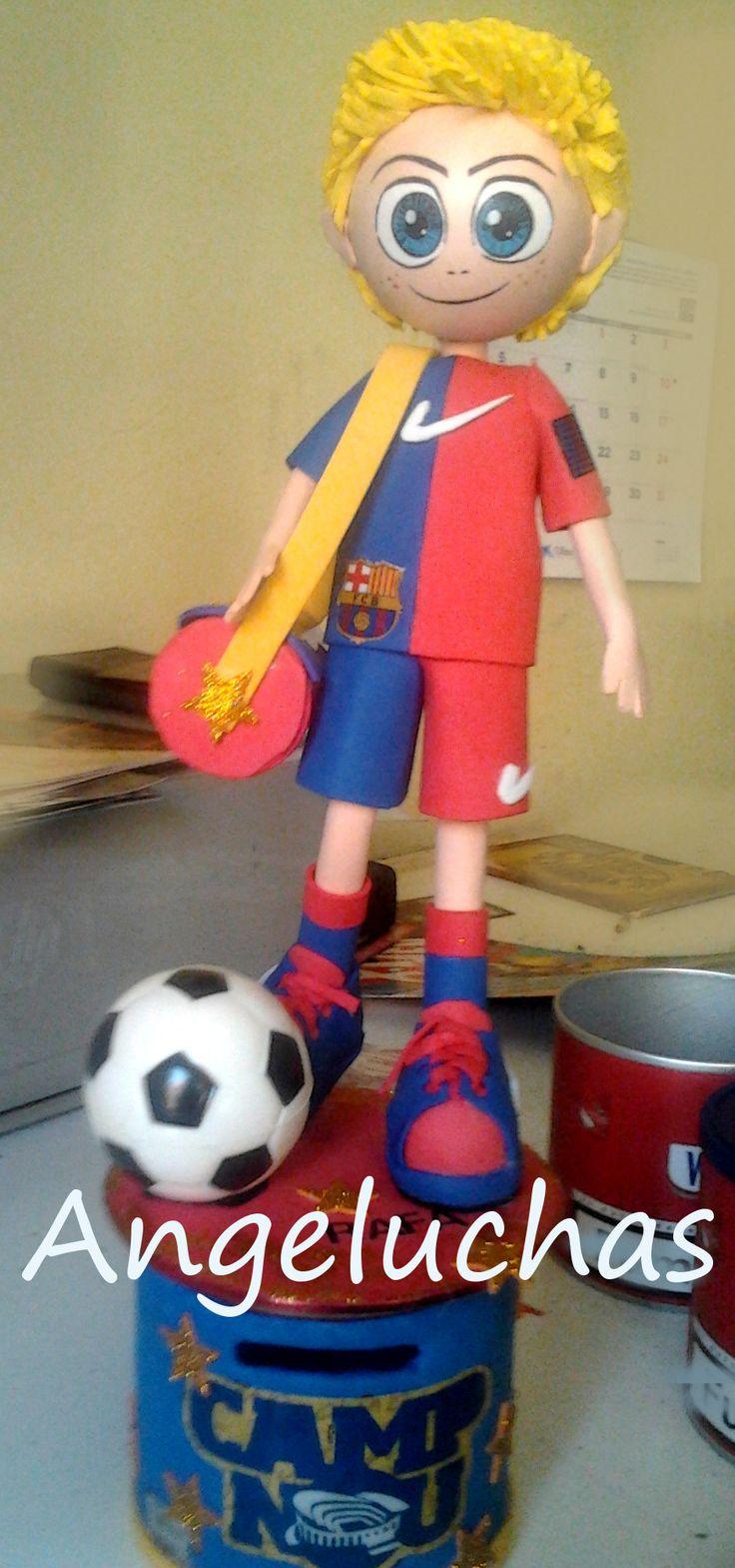 Fofuchas angeluchas: Muñecas fofuchas artesanales y originales: Jugador del Barça