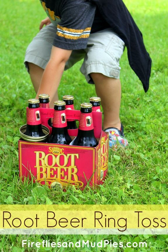 Root Beer Ring Toss is an awesome summer game! #firefliesandmudpies.com