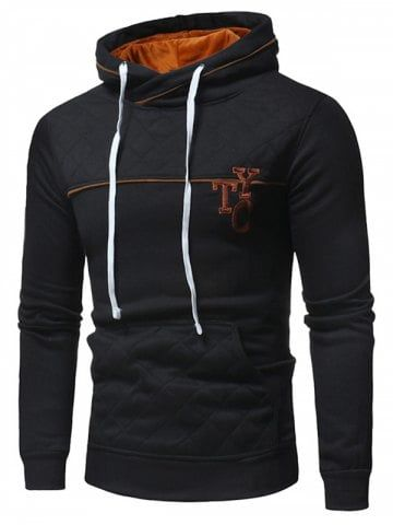 749e4e39 Men Fashion Hoodie Comfortable Hooded Slim - BLACK - 3XL Cheap Hoodies, Men  Fashion,