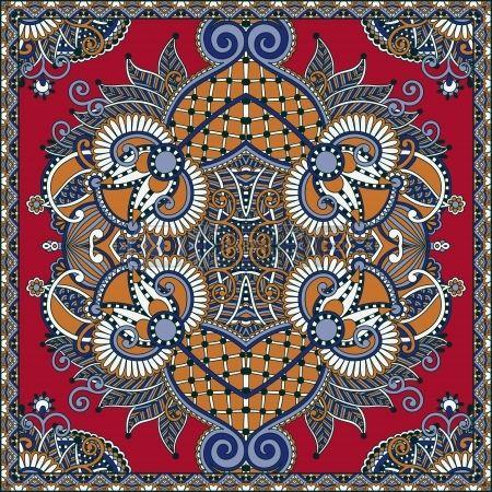Traditionnel ornement floral paisley bandana. Vous pouvez utiliser ce modèle dans la conception de tapis, châle, oreiller, coussin