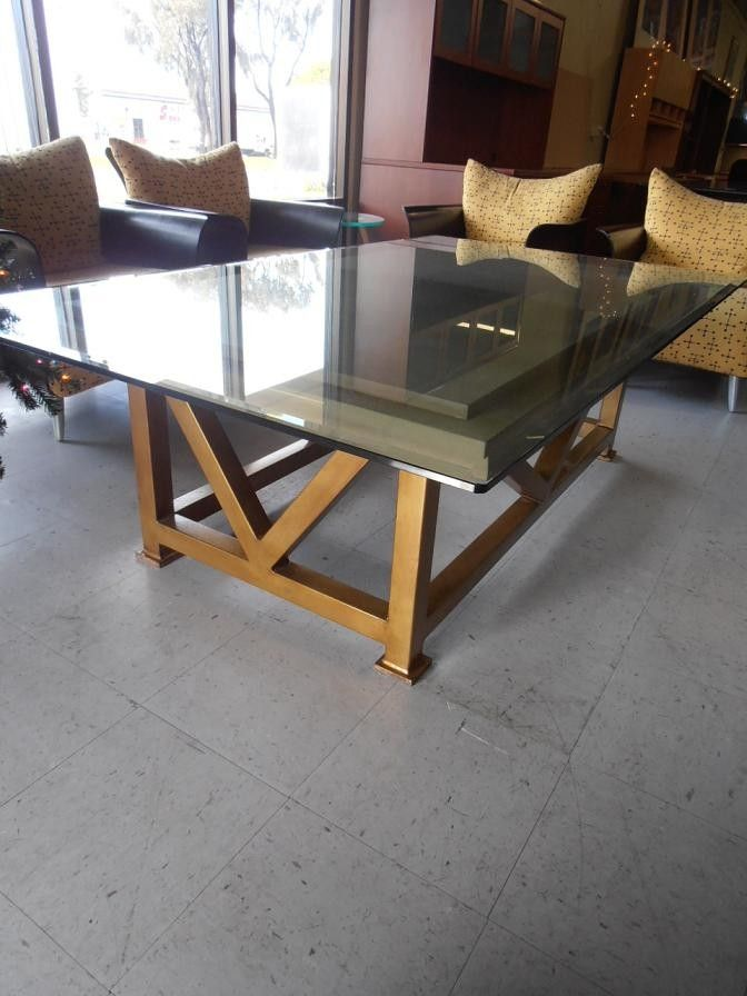 20 best images about used tables on pinterest cherries wood veneer and office table Used glass coffee table