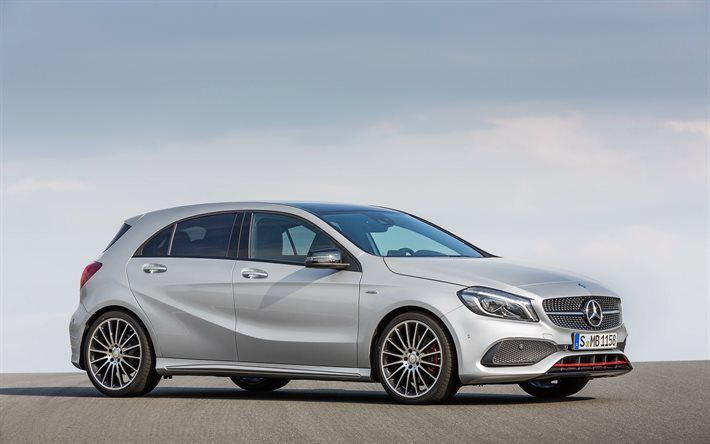 Awesome Mercedes 2017: Mercedes A45 AMG, 2016, 4MATIC, W176, A-class, hatchback, tuning, Mercedes... Car24 - World Bayers Check more at http://car24.top/2017/2017/04/10/mercedes-2017-mercedes-a45-amg-2016-4matic-w176-a-class-hatchback-tuning-mercedes-car24-world-bayers/