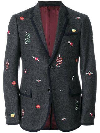 401df85c0bc Gucci Embroidered Monaco Jacket - Farfetch | Men's Fashion in 2019 | Mens  fashion:__cat__, Fashion, Great mens fashion