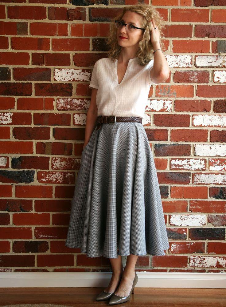 Sew Tessuti Blog - Sewing Tips & Tutorials - New Fabrics, Pattern Reviews: Pattern Review - Style 3863 full circle skirt
