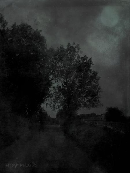 The Long Road Into the Night  Dark Digital Art by mimulux patricia no