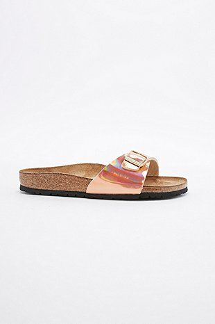 Birkenstock Madrid Sandals in Rose Gold - Urban Outfitters
