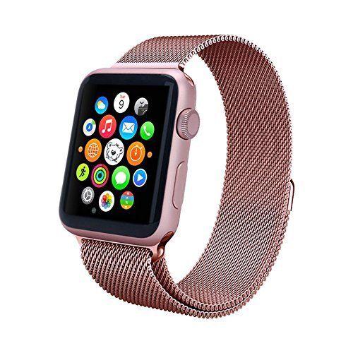 Aviato Apple Watch 42 mm Magnetic Milanaise Armband - Rosa - http://uhr.haus/arktis/aviato-apple-watch-42-mm-magnetic-milanaise