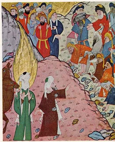 Abu Bakr stops Meccan Mob. 16th century