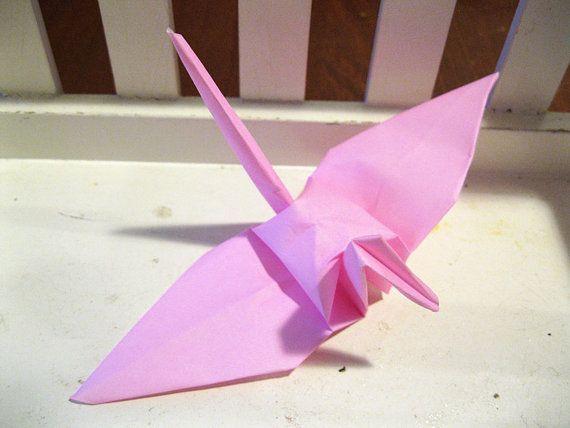"""100 6 """"Lumière bébé rose origami papier grues marathon de cancer du sein parti décoration de mariage"""