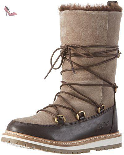 Kickers  GARBOU, Bottes mi-hauteur avec doublure chaude femme - Marron - Braun (91), 38 - Chaussures kickers (*Partner-Link)